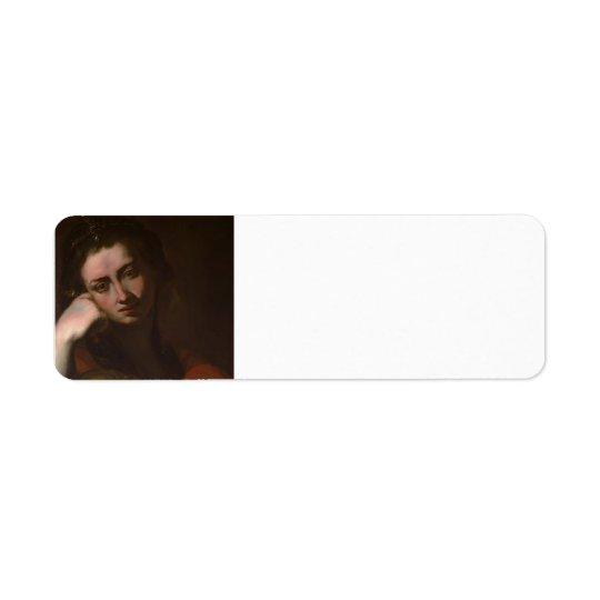 The Penitent Magdalen (Vanitas) by Jusepe Ribera Return Address Label