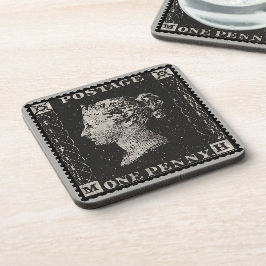 The Penny Black Postage Stamp Coaster