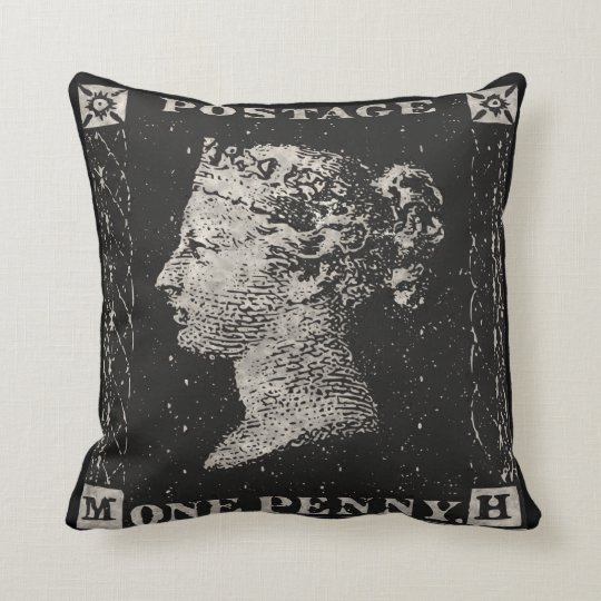 The Penny Black Postage Stamp Cushion