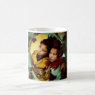 The Pensive Gaze of Two Geisha Vintage Japan Coffee Mug