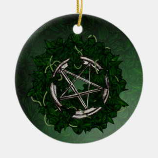 The Pentacle & The Ivy Round Ceramic Decoration