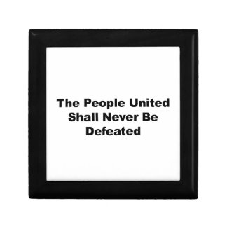 The People United Shall Never Be Defeated Gift Box