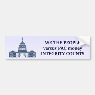 The People Versus PAC Money Bumper Sticker