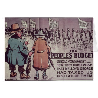 The People's Budget', 1909 Greeting Cards
