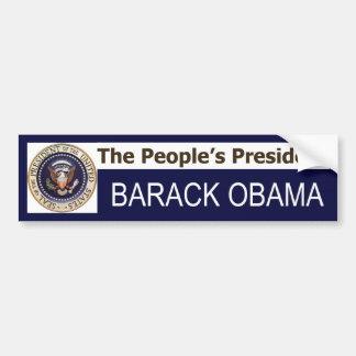 The People's President BARACK OBAMA bumper sticker
