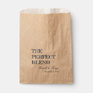 The Perfect Blend Coffee Favors, Trail Mix Navy Favour Bag