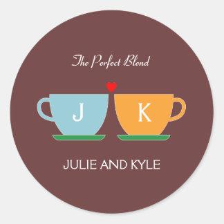 The Perfect Blend Wedding Favor Sticker/ Envelope  Round Sticker