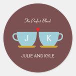 The Perfect Blend Wedding Favour Sticker/ Envelope Round Sticker