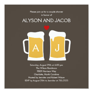 The Perfect Brew Engagement or Wedding Shower 13 Cm X 13 Cm Square Invitation Card