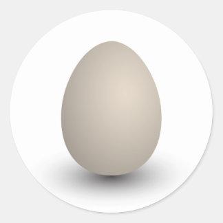 the perfect egg round sticker