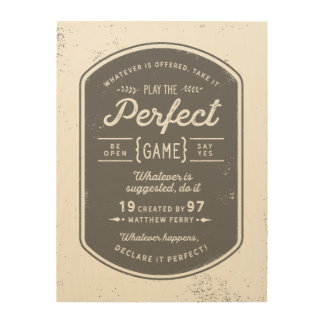 The Perfect Game Wood Poster