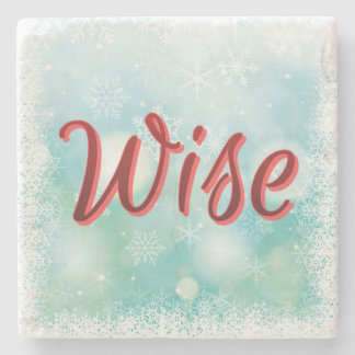 The perfect Mantra Happy Healthy Wise and Wealthy Stone Coaster