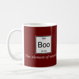 The periodic table element of surprise is Boo, Basic White Mug