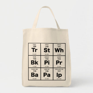 The Periodic Table of Beer Grocery Tote Bag