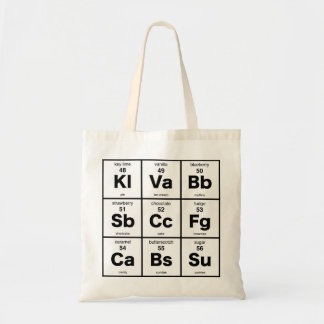 The Periodic Table of Desserts Budget Tote Bag