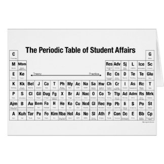 The Periodic Table of Student Affairs GreetingCard Card