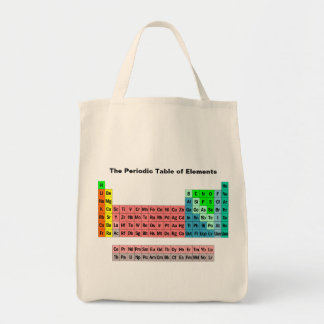 The Periodic Table (Simple Style) Grocery Tote Bag