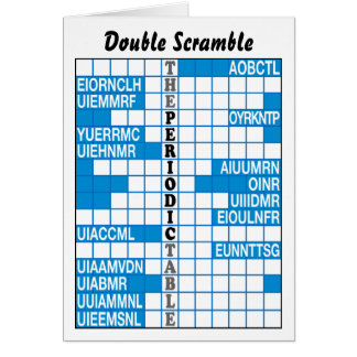 The Periodic Table Word Scramble Card