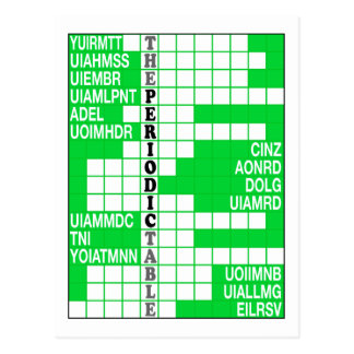 The Periodic Table Word Scramble Postcard