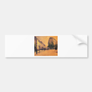 The Perpiniere Barracks by Gustave Caillebotte Bumper Sticker