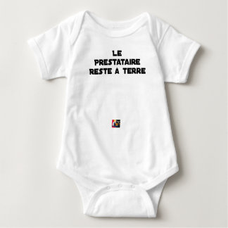The PERSON RECEIVING BENEFITS REMAINS On the Baby Bodysuit
