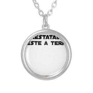 The PERSON RECEIVING BENEFITS REMAINS On the Silver Plated Necklace