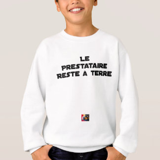 The PERSON RECEIVING BENEFITS REMAINS On the Sweatshirt