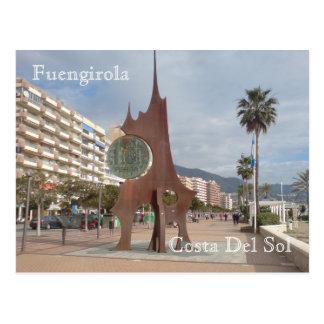The Peseta Coin Sculpture Postcard