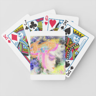 The pet lady bicycle playing cards