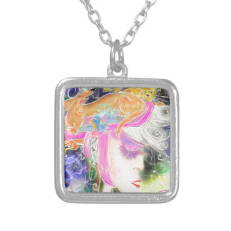 The pet lady silver plated necklace