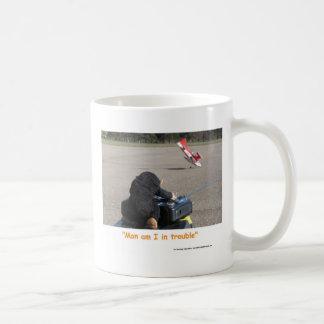 The Pet Monkey Crashing Dads RC Plane Basic White Mug