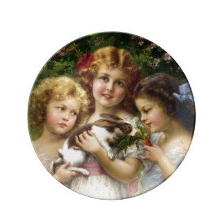 The Pet Rabbit Porcelain Plate