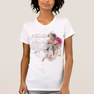 The Petite Alternative 2 girls on a womans beater T-Shirt