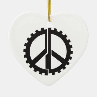 The PG Peace Gear Ceramic Ornament