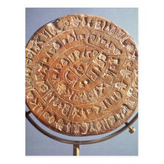 The Phaistos Disc, with unknown significance Postcard