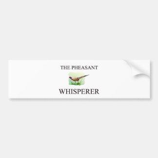 The Pheasant Whisperer Bumper Stickers