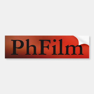 The PhFilm Bumper Sticker