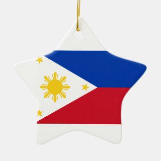 The Philippines Flag Ceramic Star Decoration