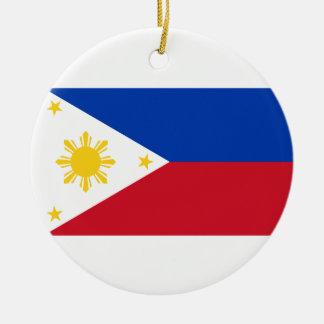 The Philippines Flag Round Ceramic Decoration