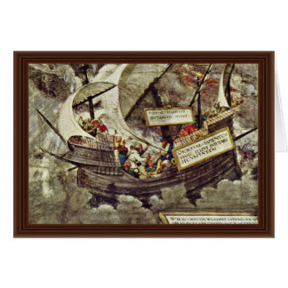 The Philosopher Pyrrho In Stormy Seas By Petrarca- Greeting Card