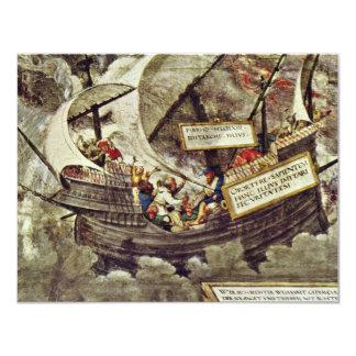 The Philosopher Pyrrho In Stormy Seas By Petrarca- 11 Cm X 14 Cm Invitation Card
