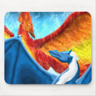 The Phoenix and the Dragon Mouse Pad