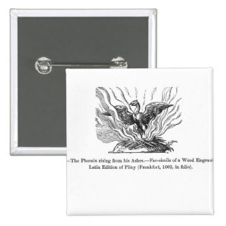 The Phoenix rising from his ashes 15 Cm Square Badge