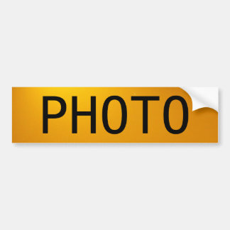 The Photo Bumper Sticker