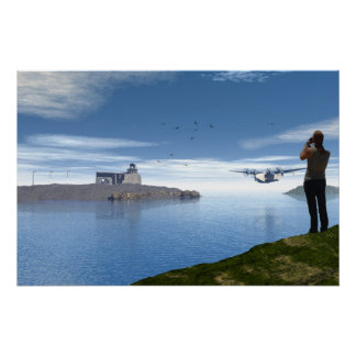 The Photographer and the SeaPlane Poster