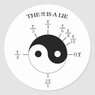 The Pi is a Lie! Classic Round Sticker