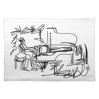The Pianist - Piano Theme Placemat