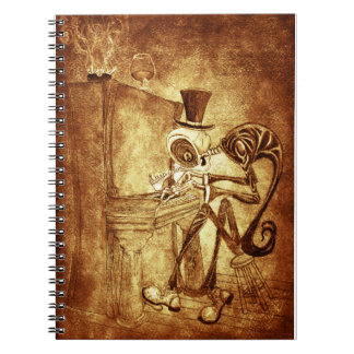 the piano player note book