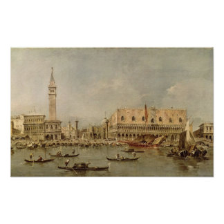 The Piazzetta and the Palazzo Ducale Poster