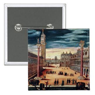 The Piazzetta di San Marco, Venice 15 Cm Square Badge